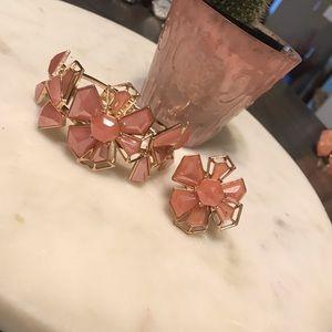 Floral Ring and Bracelet Set